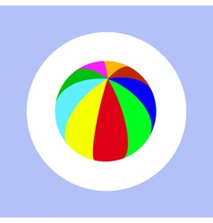 varicolored ball in circle vector image vector image