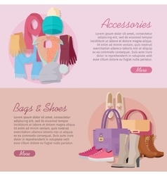 Women s bag shoes and accessories new collection vector
