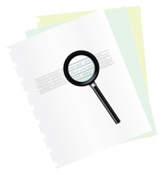 magnifying and document vector image