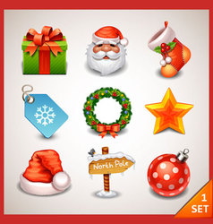 Christmas icon set-1 vector