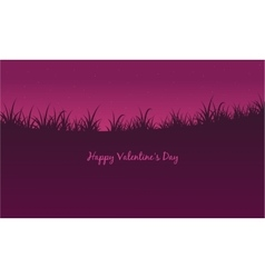 Collection landscape valentine day vector