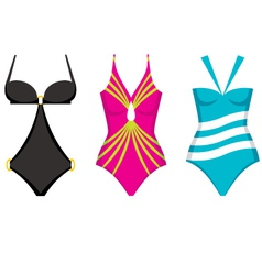 Three swimming suits vector