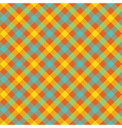 Colored check plaid fabric texture seamless vector image