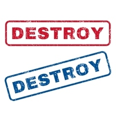 Destroy rubber stamps vector