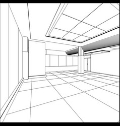 abstract modern office architecture design in 3d vector image