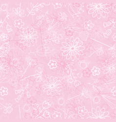 Tender and graceful background with hand flowers vector