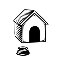 doghouse icon isolated on white background vector image