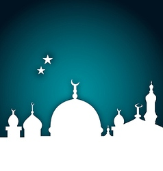 Elegant card with beautiful mosque vector image