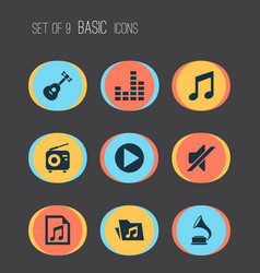 Multimedia icons set collection of file vector