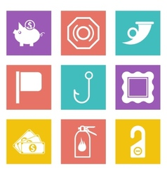 Icons for Web Design set 14 vector image