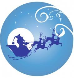 Moon and santa clause vector