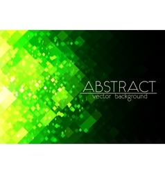 Bright green grid abstract horizontal background vector