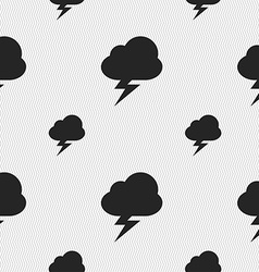 Storm icon sign seamless pattern with geometric vector