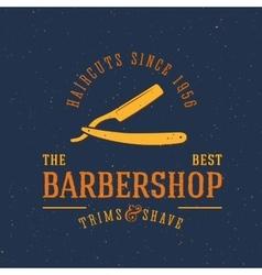 Barbershop Vintage Label or Logo Template vector image