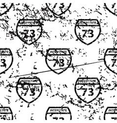 Interstate 73 pattern grunge monochrome vector