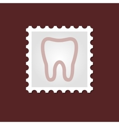 Tooth medical stamp vector