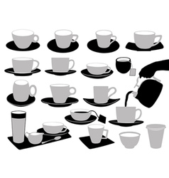 of cups vector image
