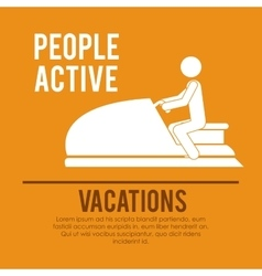 People active design vector