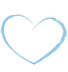 Blue heart drawing love valentine vector