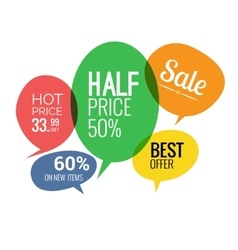 Sale and discounts speech bubbles vector