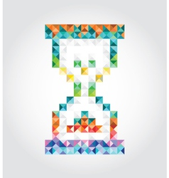 Abstract hourglass of pixels vector image