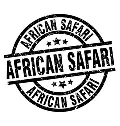 African safari round grunge black stamp vector
