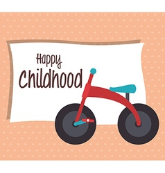 Baby shower and happy childhood vector