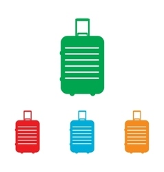 Baggage sign Colorfull set vector image