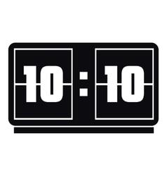 Big digital clock icon simple style vector
