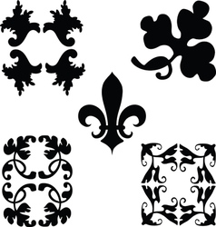 Black decorations ornaments vector image