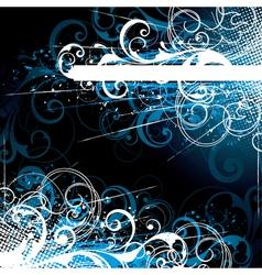 blue floral background vector image vector image