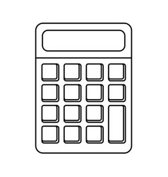 Calculator math school utensil thin line vector