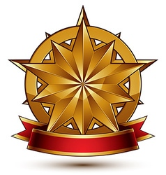 Complicated golden design element with polygonal vector