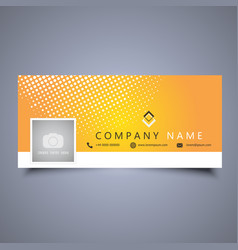Facebook timeline cover design vector
