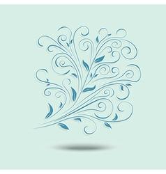 Floral design element ornamental background vector