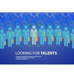 people design over blue background vector image vector image