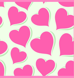 pink hearts on bright background vector image vector image