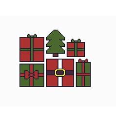 Pixel Art Gifts vector image vector image