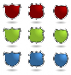 shields with rivets vector image vector image