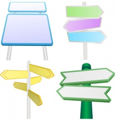 signs and signposts vector image vector image