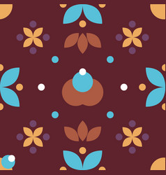 simple folk floral seamless pattern vector image vector image