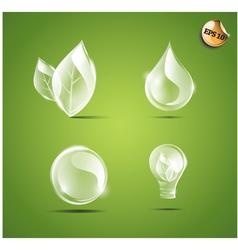 Transparent eco elements vector image