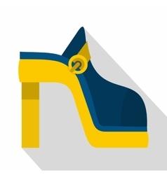 Women shoe icon flat style vector image vector image