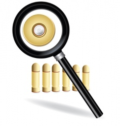 magnifying and bullet vector image
