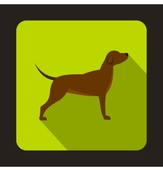 Hunting dog icon flat style vector