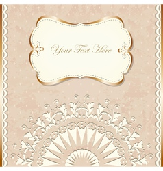 Romantic vintage border vector