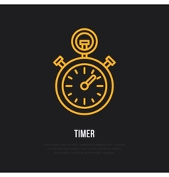 Timer line icon Sport championship vector image