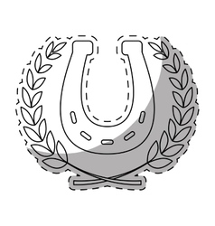 Horseshoe equine or luck icon image vector