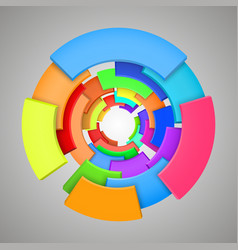 abstract colorful 3d rainbow logo design vector image
