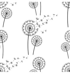 seamless pattern background with dandelion fluff vector image
